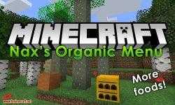 NaxsOrganicMenu mod for minecraft logo