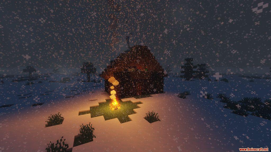 Snowy Log Cabin Map Screenshots (3)