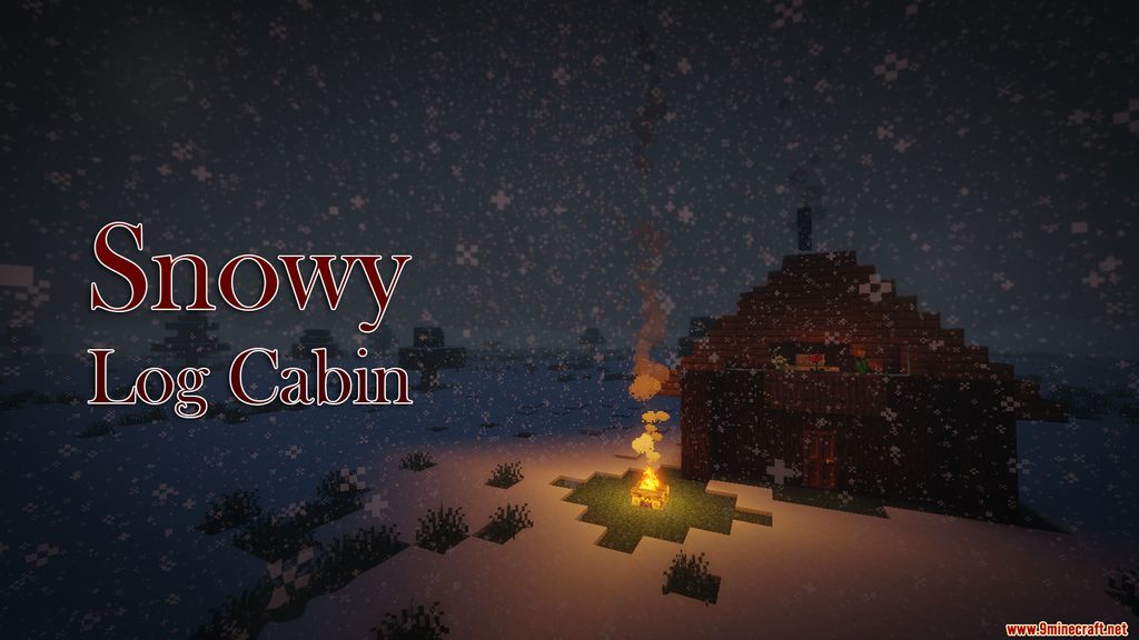Snowy Log Cabin Map Thumbnail