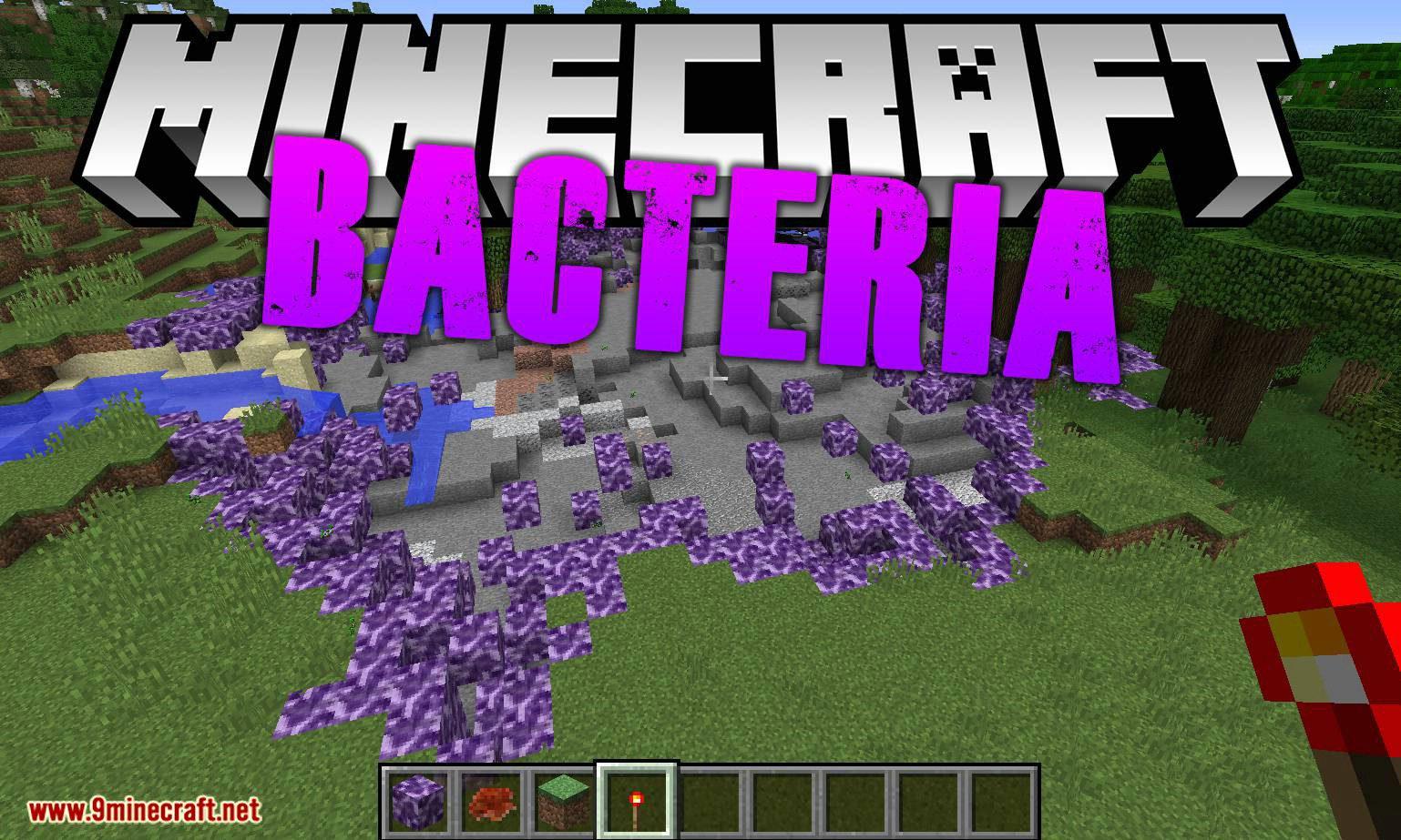 Bacteria mod for minecraft logo