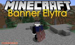 Banner Elytra mod for minecraft logo