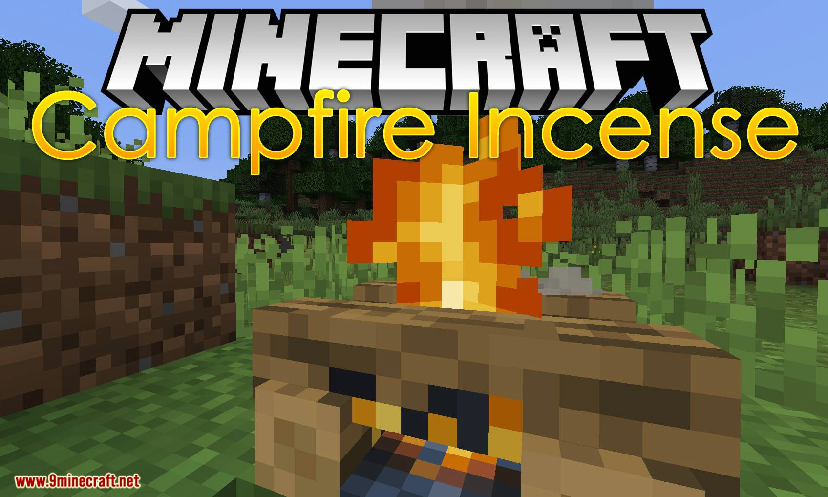 Campfire Incense mod for minecraft logo