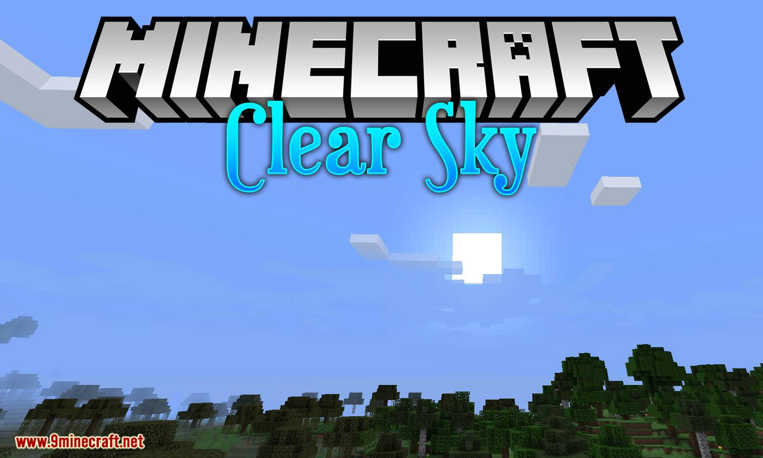 Clear Skies mod for minecraft logo