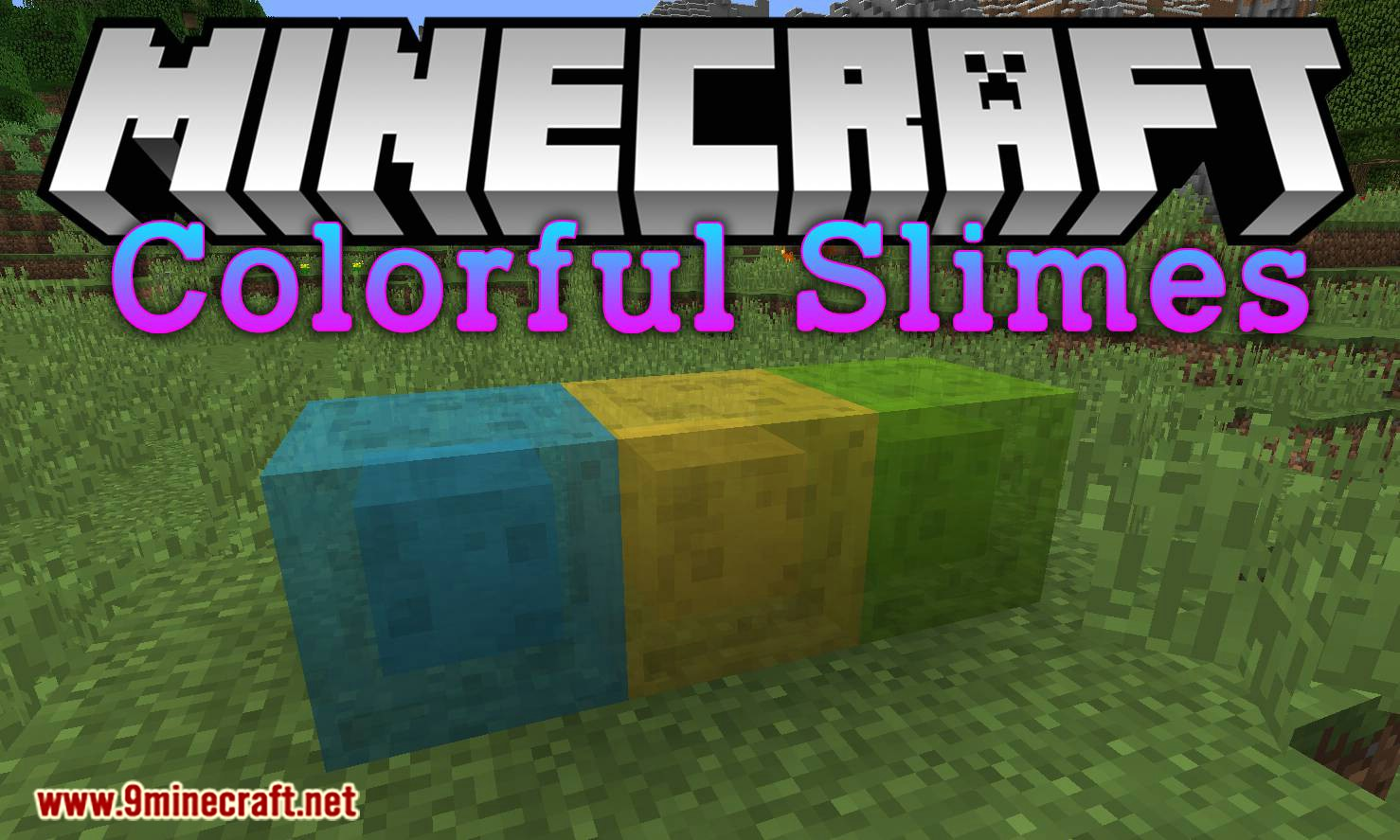 Colorful Slimes mod for minecraft logo