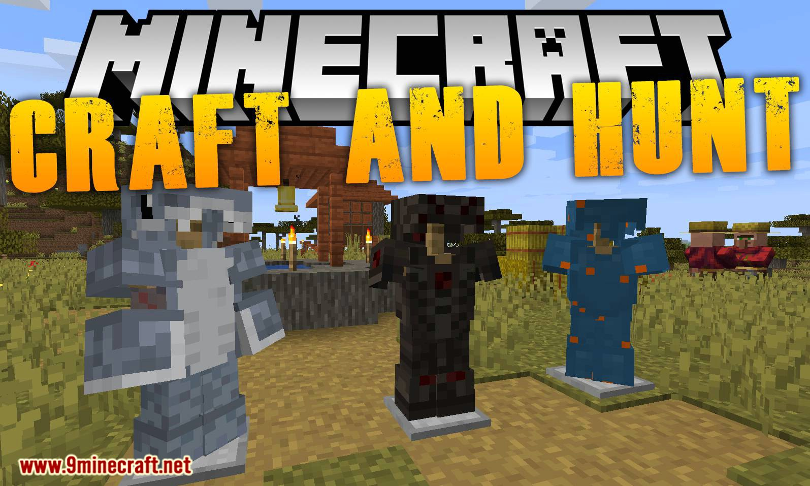 Craft and Hunt mod for minecraft logo
