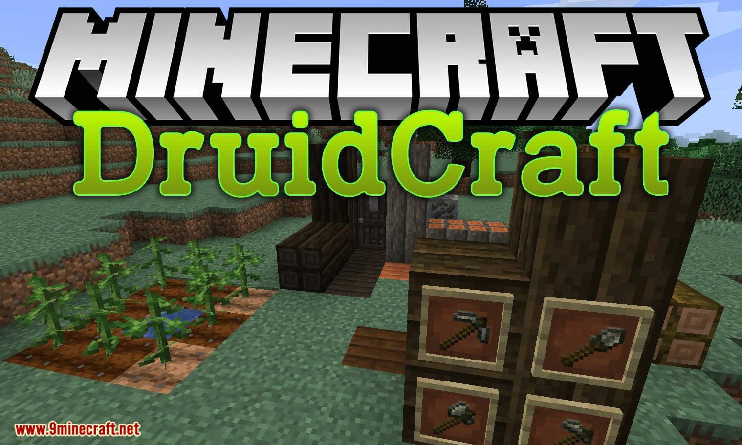 Druidcraft mod for minecraft logo