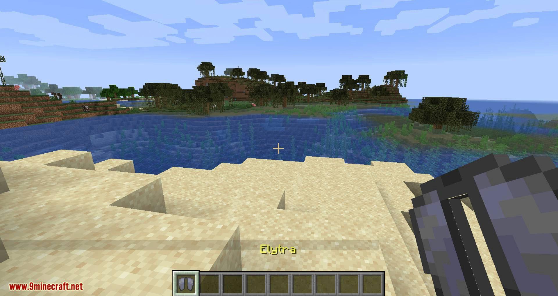 Easy Elytra Takeoff mod for minecraft 01