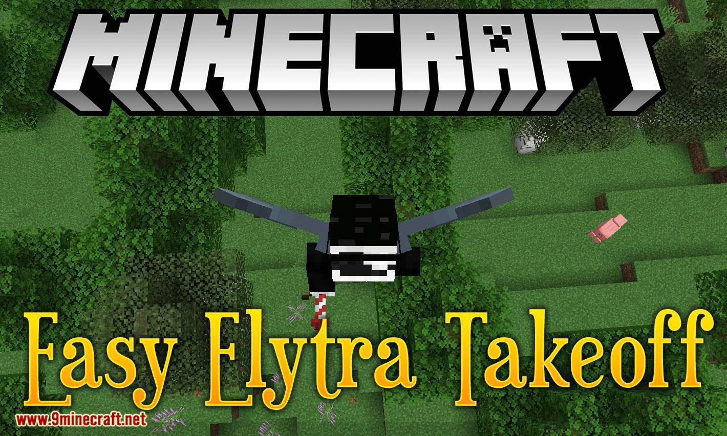 Easy Elytra Takeoff mod for minecraft logo