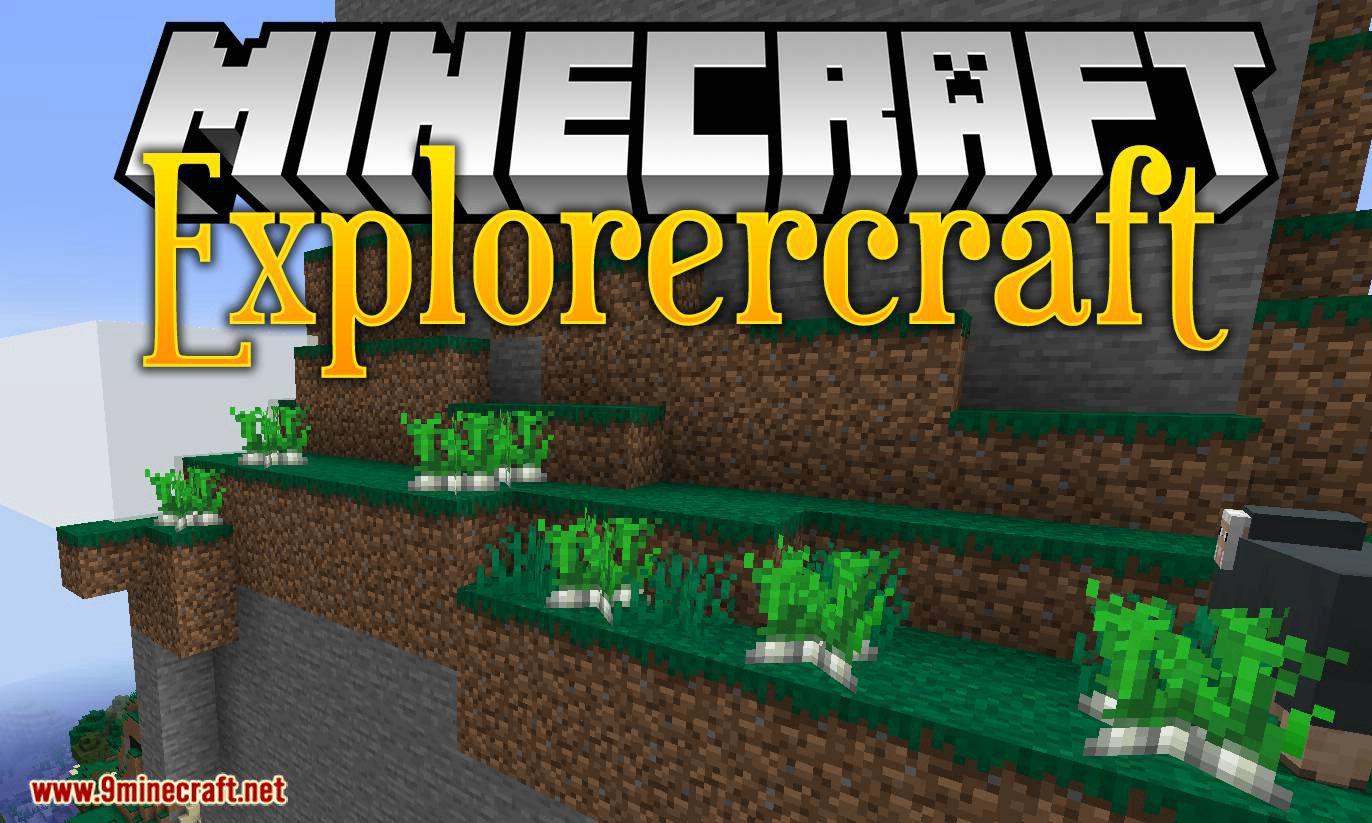 Explorercraft mod for minecraft logo