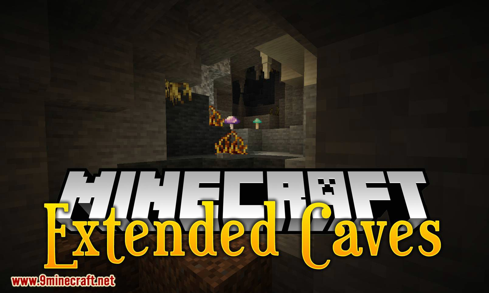 Extended Caves mod for minecraft logo