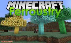 Ferroustry mod for minecraft logo