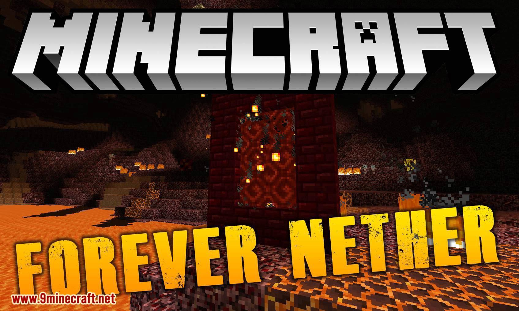 Forever Nether mod for minecraft logo