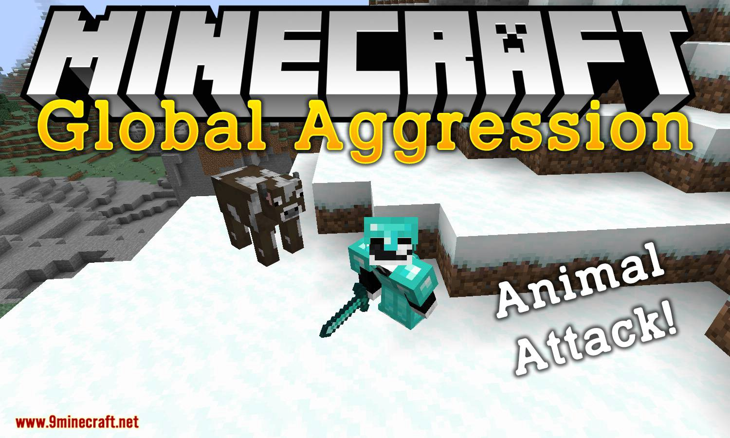 Global Aggression mod for minecraft logo