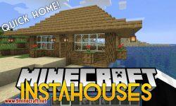 InstaHouses mod for minecraft logo