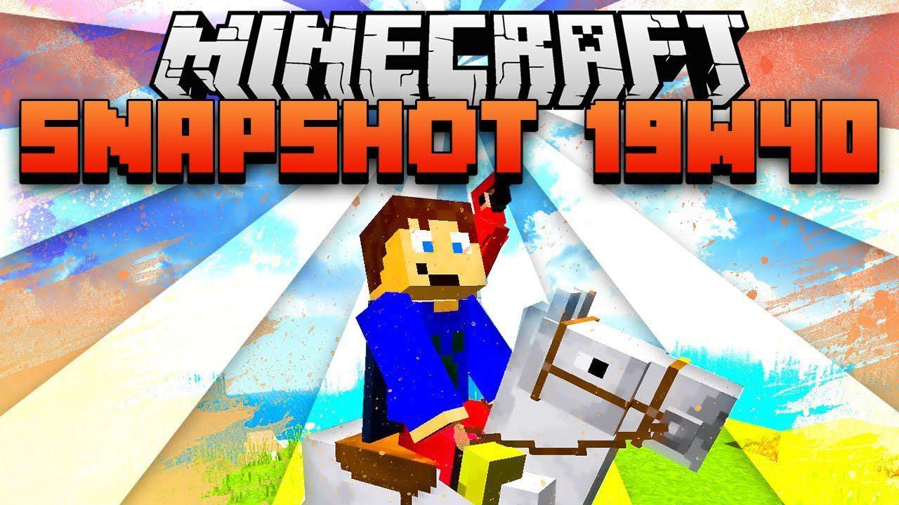 Minecraft 1.15 Snapshot 19w40a