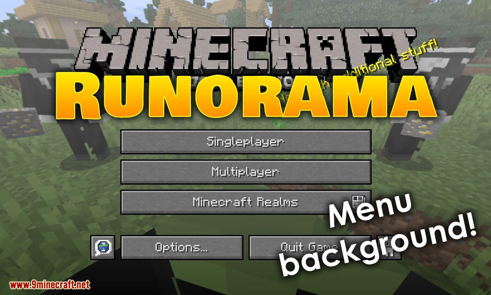 Runorama mod for minecraft logo