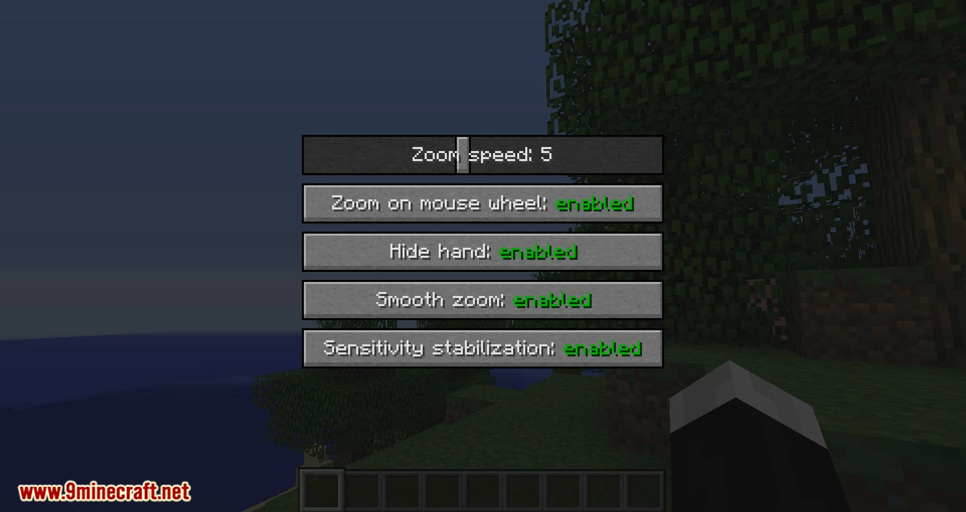Smooth Zoom mod for minecraft 05