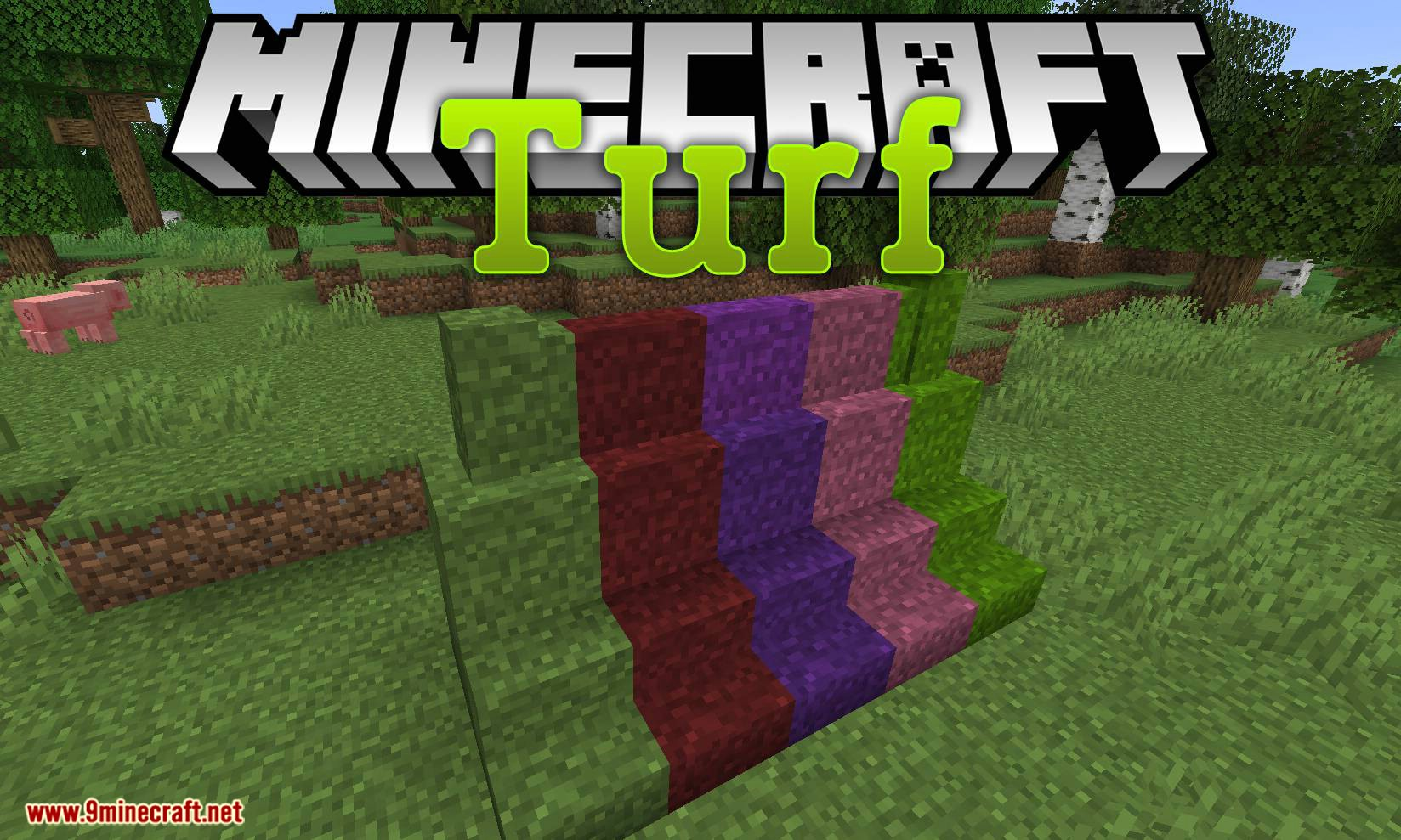 Turf mod for minecraft logo