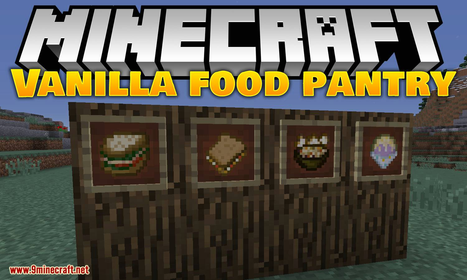Vanilla Food Pantry Mod for minecraft logo