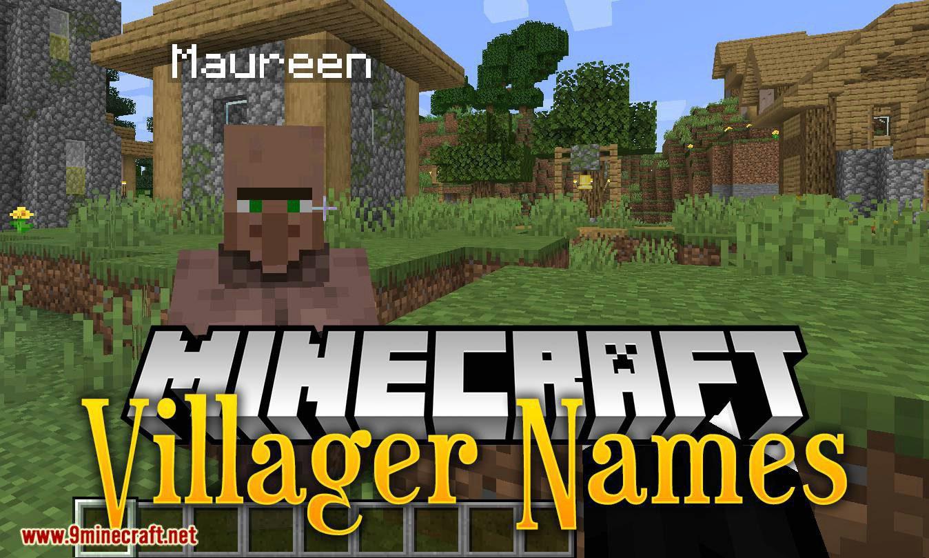 Villager Names mod for minecraft logo