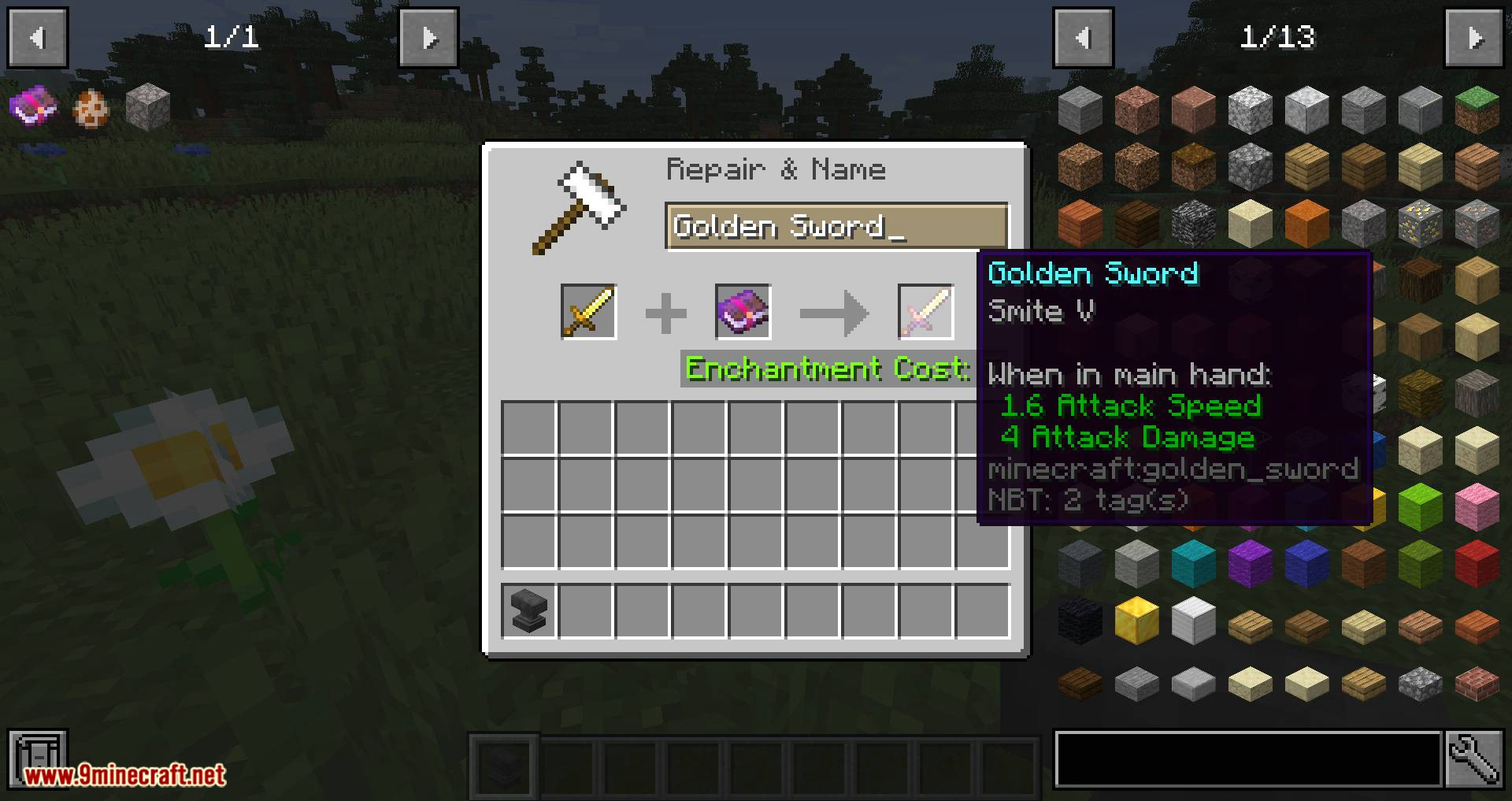 Anvil Tweaks mod for minecraft 03