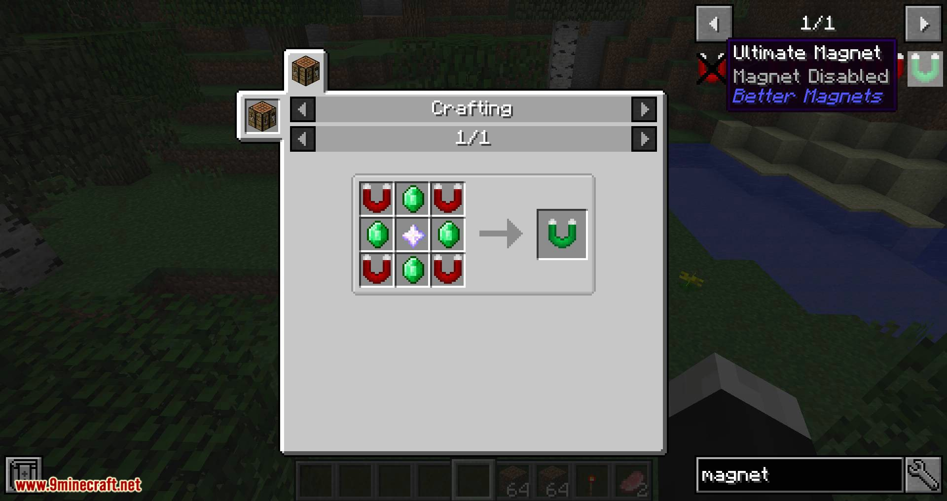 Better Magnets mod for minecraft 11