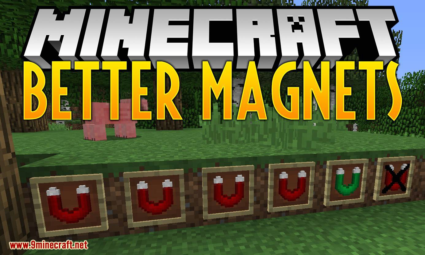 Better Magnets mod for minecraft logo