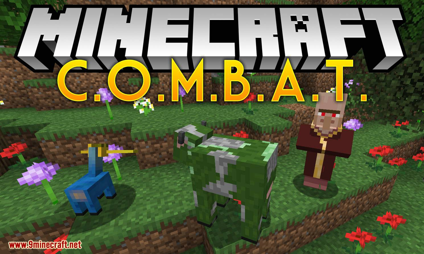 C.O.M.B.A.T mod for minecraft logo