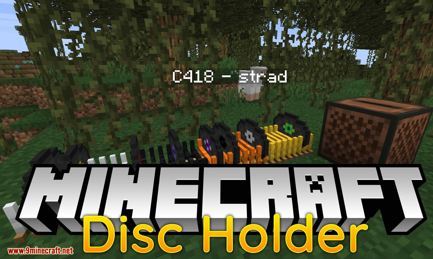 Disc Holder mod for minecraft logo