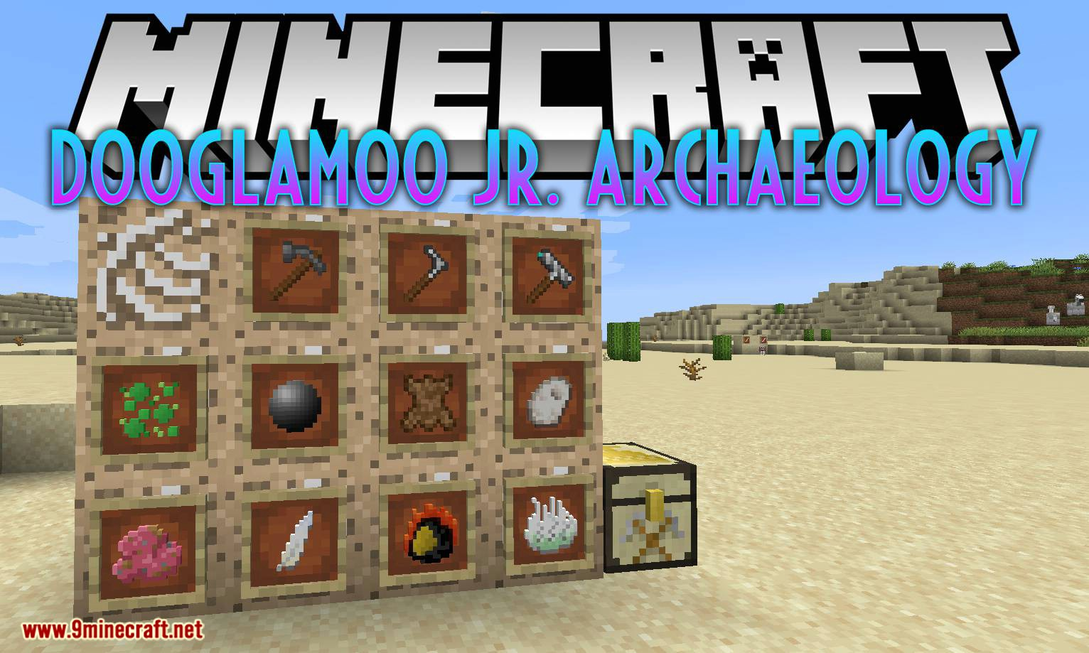 Dooglamoo Jr. Archaeology mod for minecraft logo