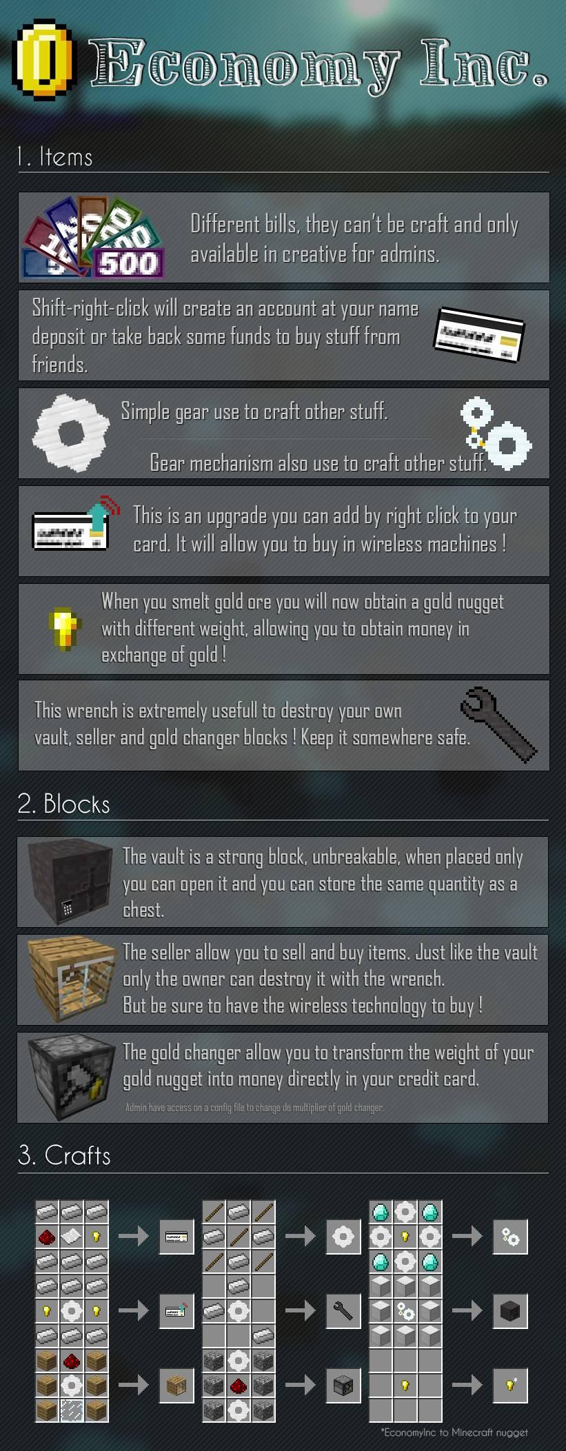 Economy Inc mod for minecraft 21