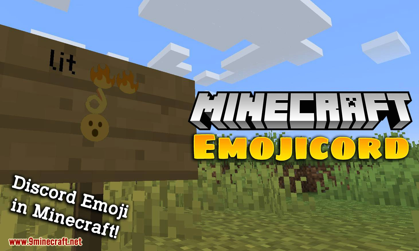 Emojicord mod for minecraft logo