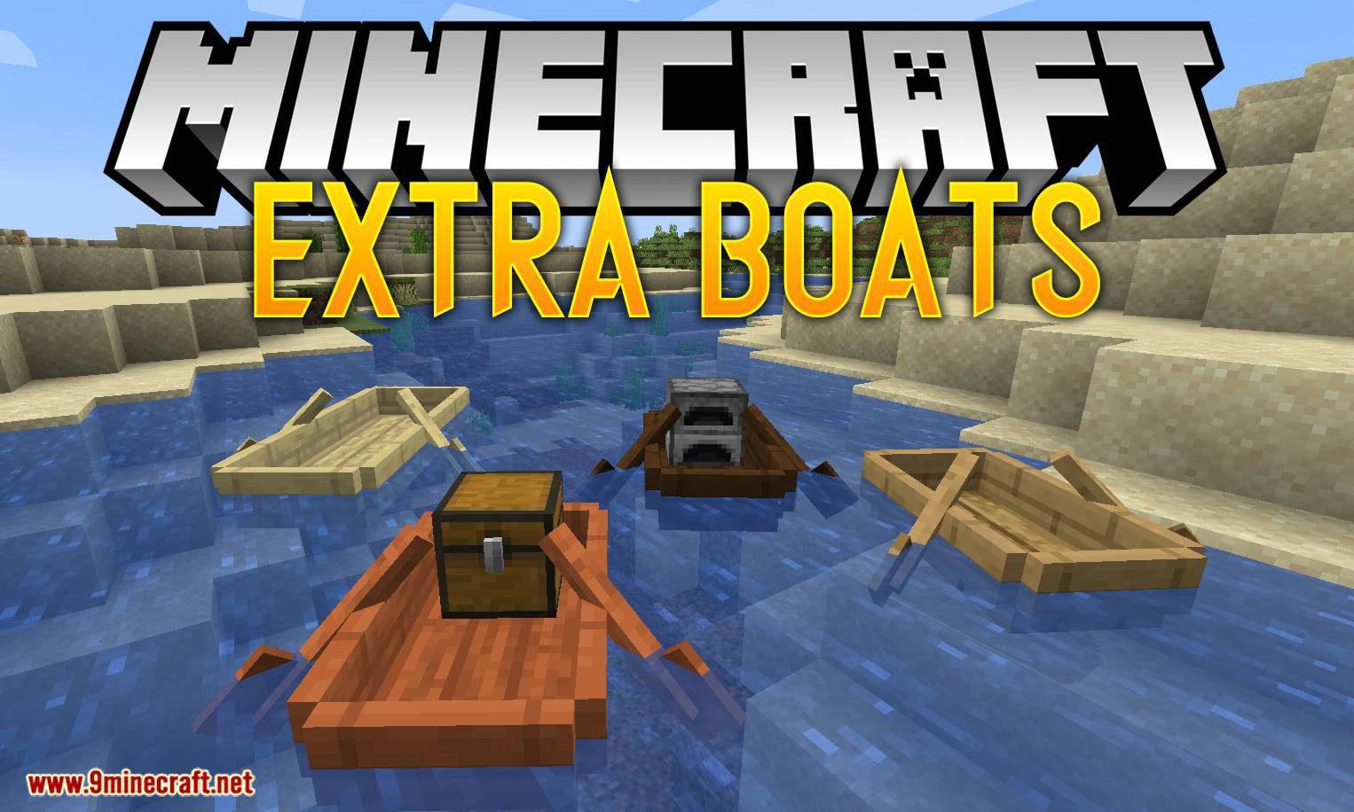 Extra Boats mod for minecraft logo