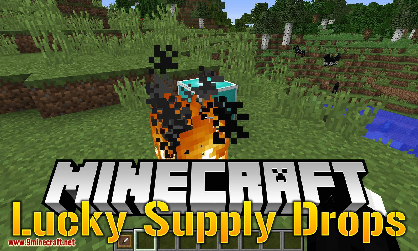 Lucky Supply Drops mod for minecraft logo