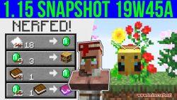 Minecraft 1.15 Snapshot 19w45a