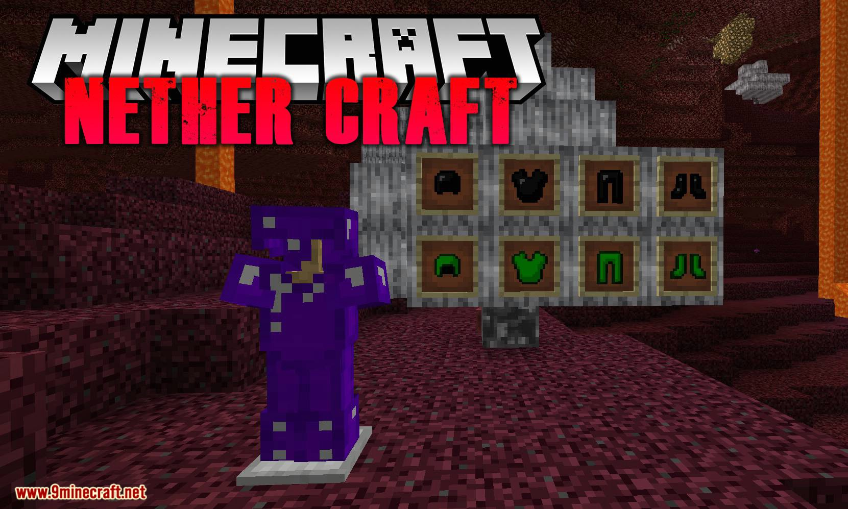 Nether Craft mod for minecraft logo