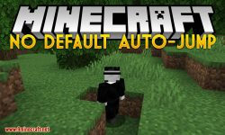 No Default Auto-Jump mod for minecraft logo