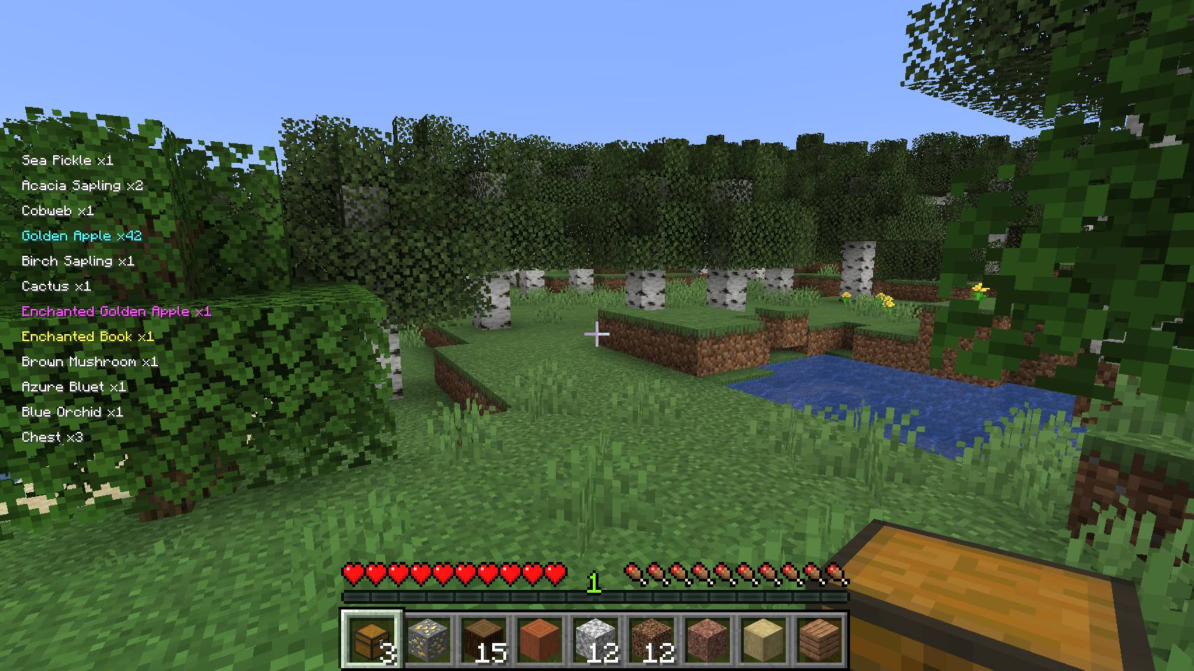 Pick Up Notifier mod for minecraft 23