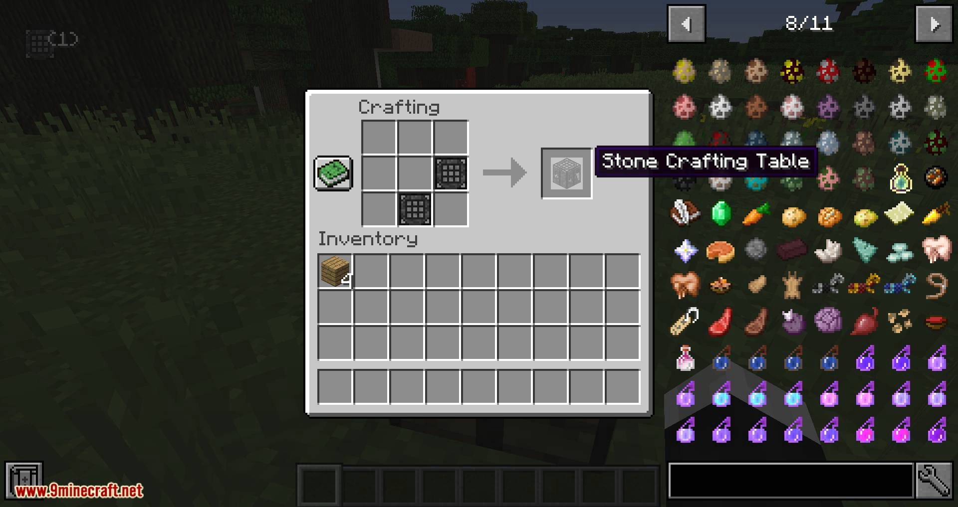 Stone Crafting Table mod for minecraft 06