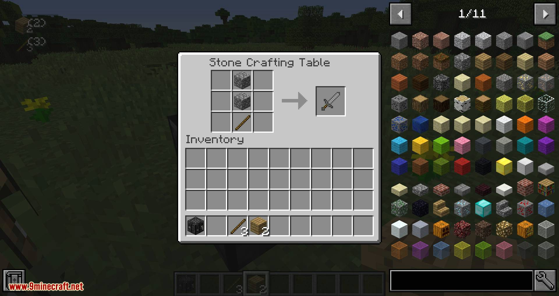 Stone Crafting Table mod for minecraft 09