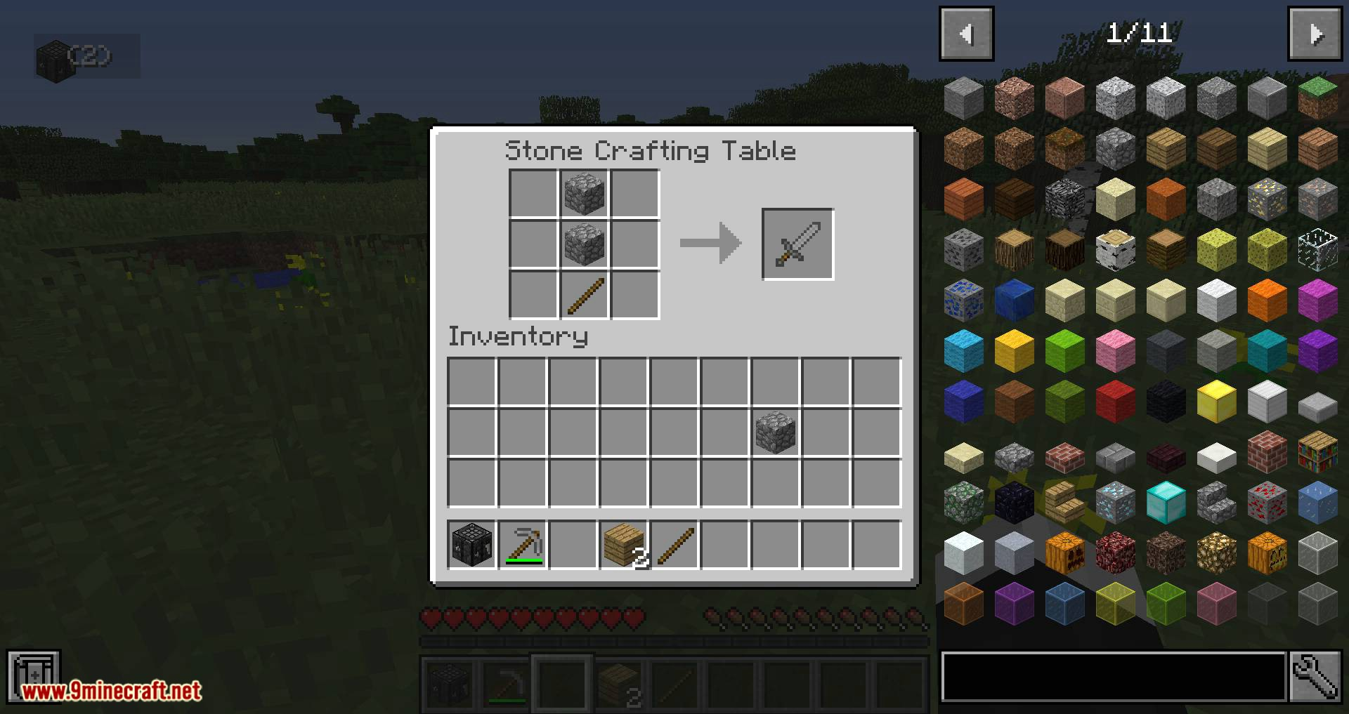 Stone Crafting Table mod for minecraft 13