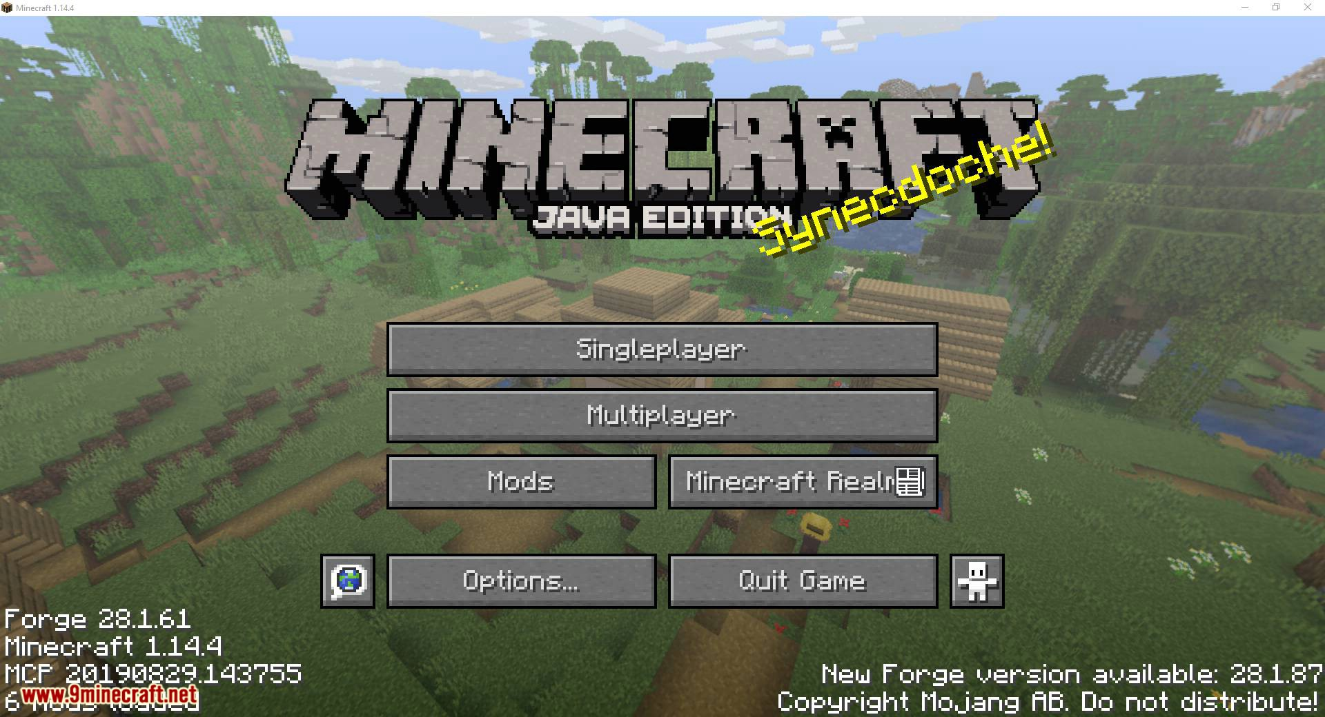 Title Changer mod for minecraft 01