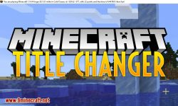 Title Changer mod for minecraft logo