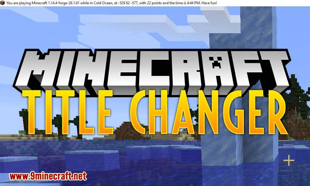 Title Changer mod for minecraft logo