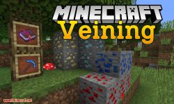 Veining mod for minecraft logo