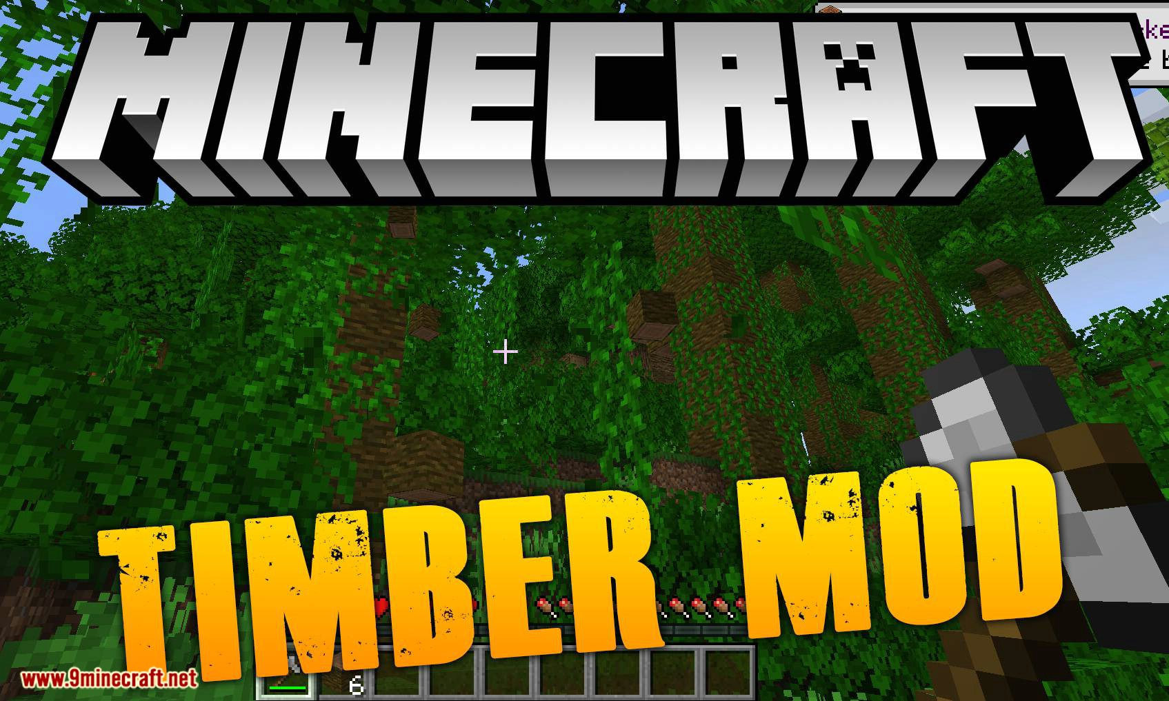 pizzaatime's Timber Mod 1.16.2/1.15.2 (One Block Chop, Many Tree Drop) - 9Minecraft.Net