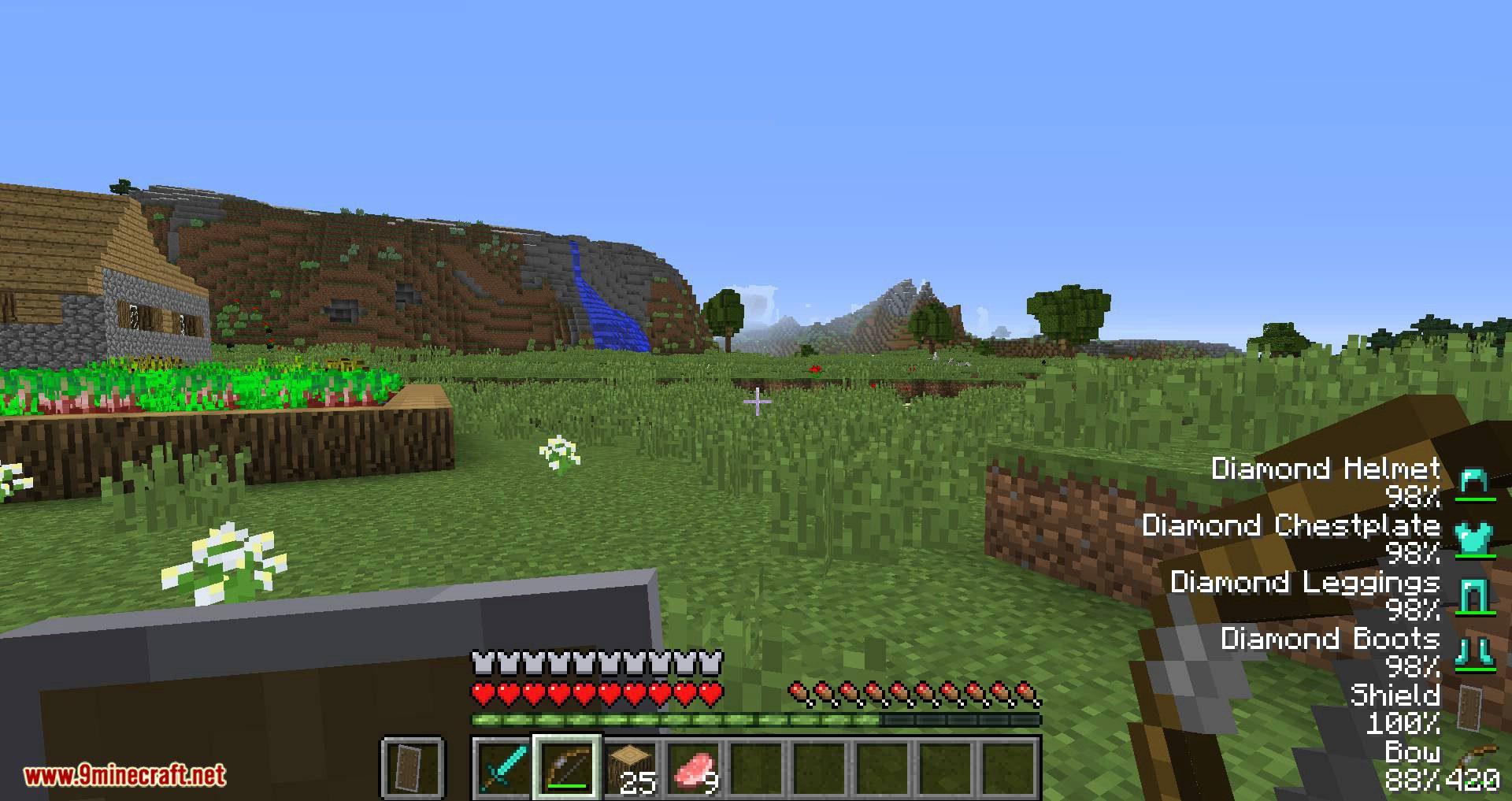 ArmorStatusHUD Updated mod for minecraft 09