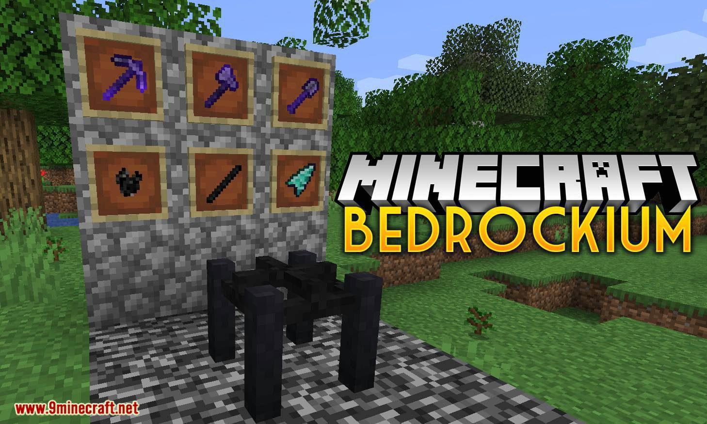 Bedrockium mod for minecraft logo