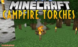 Campfire Torches mod for minecraft logo