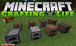 Crafting = Life mod for minecraft logo